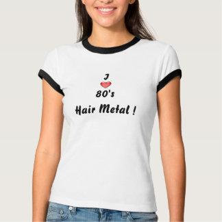T-shirt métal de cheveux des années 80