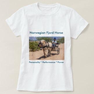 T-shirt Mettez votre cheval de fjord ici !