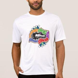 T-shirt micro de fibre de demi de marathon -