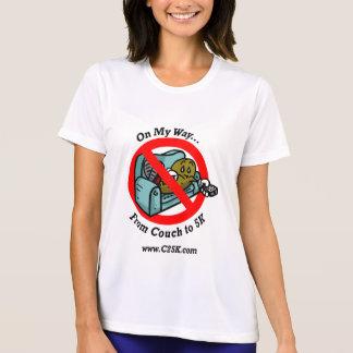 T-shirt micro de fibre de programme des dames C25K