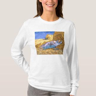 T-shirt Midi de Vincent van Gogh  , la sièste, après