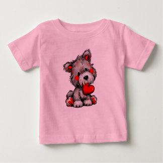 T-shirt mignon d'amour de chiot pour le garçon ou