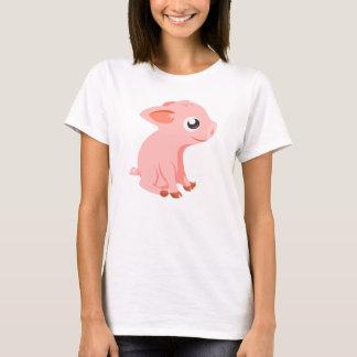 T-shirt mignon d'animaux de ferme de porcelet
