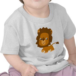 T-shirt mignon de bébé de lion de contenu de bande