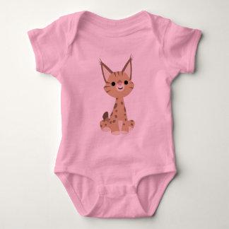 T-shirt mignon de bébé de Lynx de bande dessinée