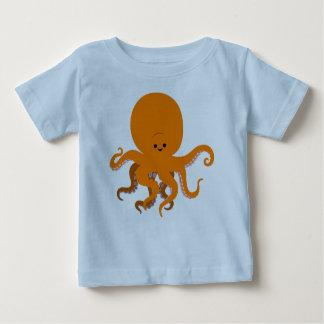 T-shirt mignon de bébé de poulpe de bande dessinée