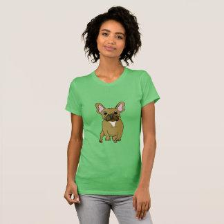T-shirt mignon de bouledogue français