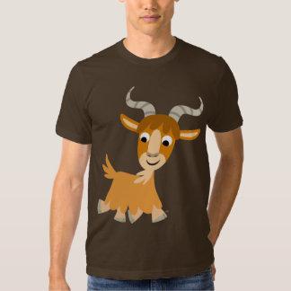 T-shirt mignon de chèvre de bande dessinée de trot