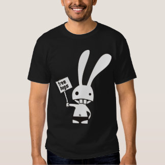 T-shirt mignon de côté de double de lapin