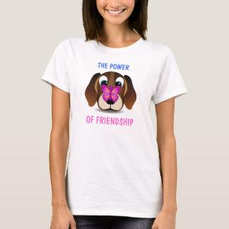 T-shirt mignon de dames d'amitié de chiot et de