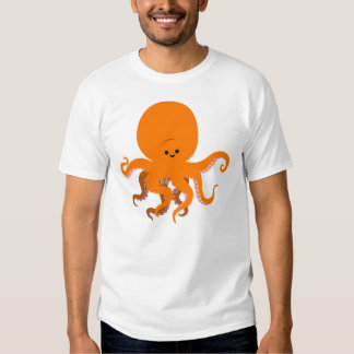 T-shirt mignon de femmes de poulpe de bande