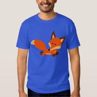 T-shirt mignon de Fox de bande dessinée de flotte