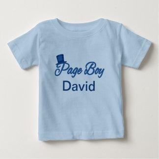 T-shirt mignon de garçon de page à customiser