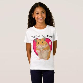 T-shirt mignon de hamster de filles
