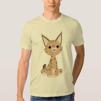 T-shirt mignon de Lynx de bande dessinée