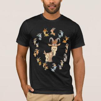 T-shirt mignon de mandala de chèvre de bande