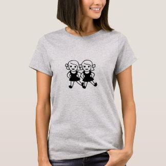 T-shirt mignon de meilleurs amis d'emoji