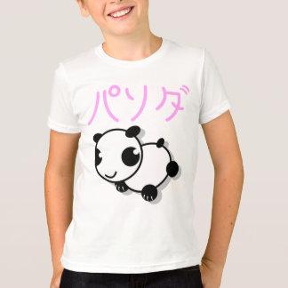 T-shirt mignon de panda de style d'anime - rose