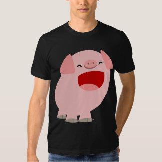 T-shirt mignon de porc de chant de bande dessinée