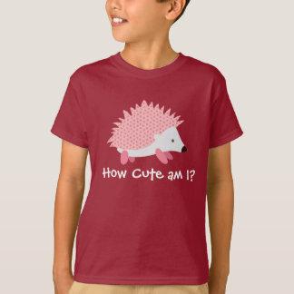 T-shirt mignon de rose de hérisson