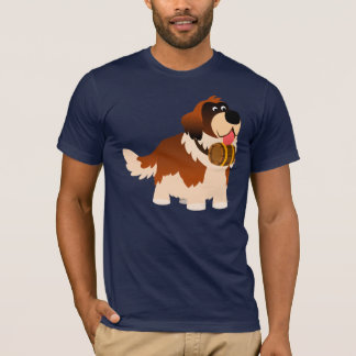 T-shirt mignon de St Bernard de bande dessinée