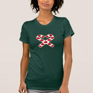 T-shirt mignon d'elfe de Noël de coeur de sucre de