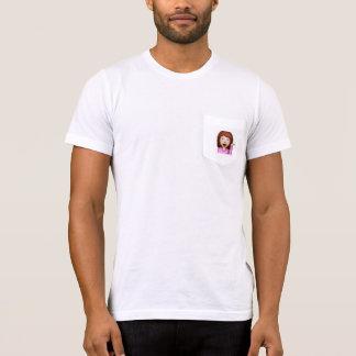 T-shirt mignon d'emoji impertinent de fille