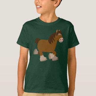 T-shirt mignon d'enfants de cheval de Shire de
