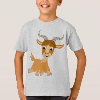 T-shirt mignon d'enfants de chèvre de bande