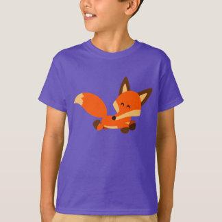 T-shirt mignon d'enfants de Fox de bande dessinée
