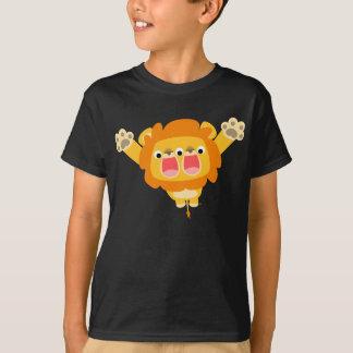 T-shirt mignon d'enfants de lion de bande dessinée