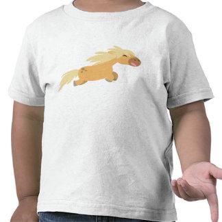 T-shirt mignon d'enfants de poney de palomino de b
