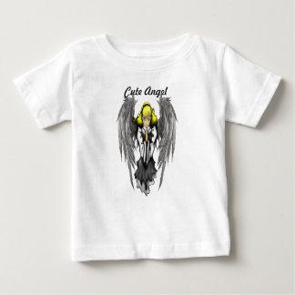 T-shirt mignon du Jersey d'amende de bébé d'ange