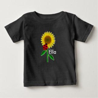 T-shirt mignon du Jersey d'amende de bébé de