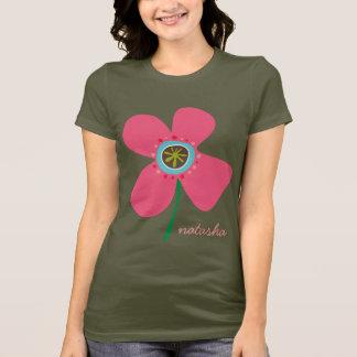 T-shirt Mignon lunatique de marguerites d'été d'amusement