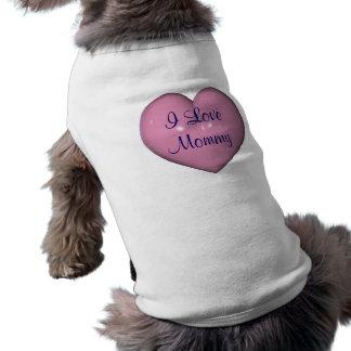T-shirt mignon personnalisé de chien de maman d'am