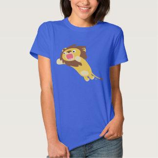 T-shirt mignon très affamé de femmes de lion de