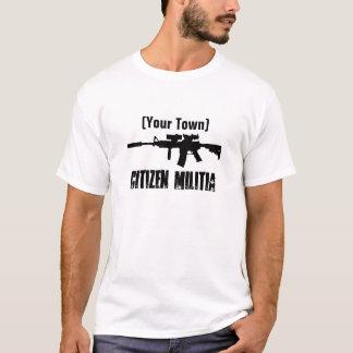 T-shirt Milice de ville natale (personnalisable)