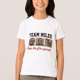 T-shirt Milles d'équipe - chemise d'enfants