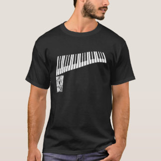 T-shirt Million de piano de quartet du dollar - blanc