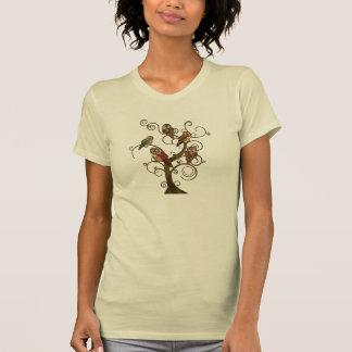 T-shirt minable d'arbre de hibou