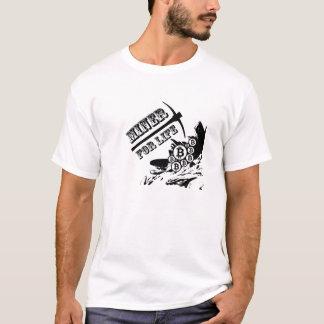 T-shirt Mineur de Bitcoin pendant la vie