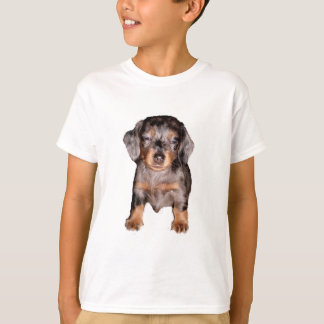 T-shirt Mini chemise somnolente de chiot de teckel