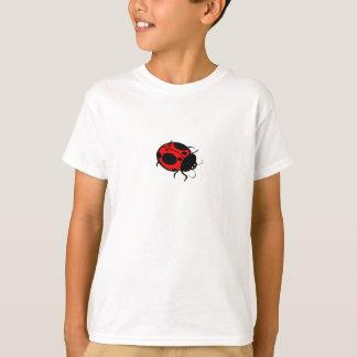 T-shirt Mini rouges et noirs de coccinelle -