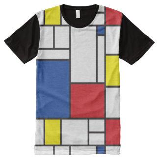 T-shirt minimaliste d'art moderne de Mondrian de