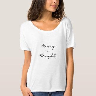 T-shirt minimaliste   de Noël 'joyeux et Bright