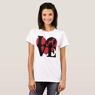 T-shirt minimum de Pin de coeur d'AMOUR