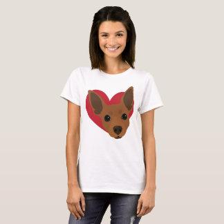 T-shirt minimum No4 de Pin de rouille rouge de