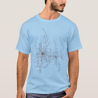 T-shirt Minneapolis-St. Itinéraires de transit de Paul