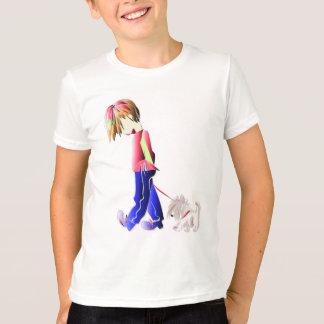 T-shirt Minnie-je ! Art de marche de chien de Westie de